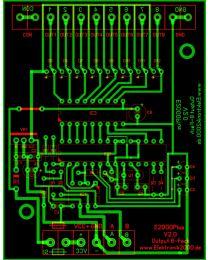 E2000Plus OUT 8FACH V2.0 Elektronik2000 SPS Logik Leiterplatte