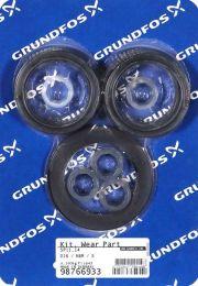 Grundfos Ersatzteil Kit Verschleißteile NBR 5 Stück für SP11/SP14 - 98766933