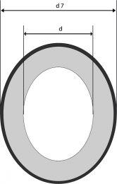 Mechanical Seal - ST - G60 - CE/NBR - Gegenring für Gleitringdichtungen